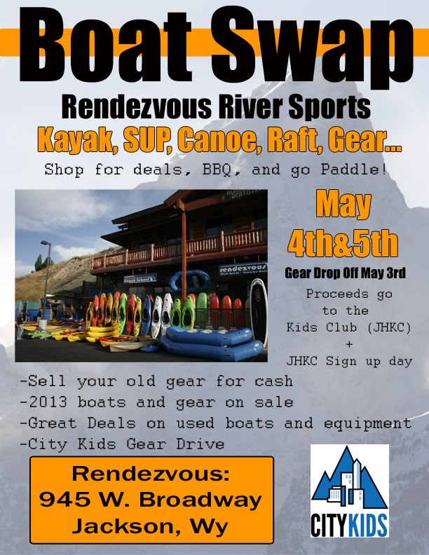 Rendezvous River Sports Boat Swap Jackson Hole kayaking Snake River