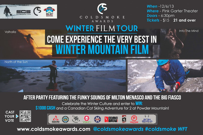 cold_smoke_awards_01, cold smoke film tour, pink garter theatre jackson hole wyoming